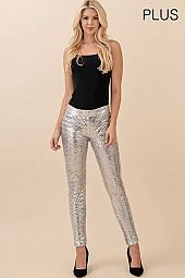 PLUS SEQUIN SKINNY PANTS