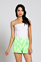 COLORBLOCK CHEVRON SHORTS