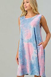 TIE DYE BACK DETAIL DRESS