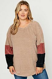 Chunky Knit Color Block Top