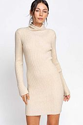 TURTLENECK SWEATER MINI DRESS