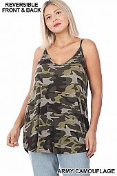 PLUS CAMOUFLAGE FRONT & BACK REVERSIBLE CAMI