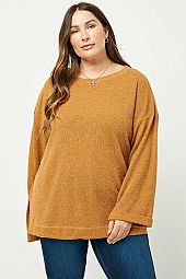 Bell Sleeve Knit Shirt