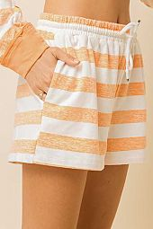 SO SOFT STRIPE FRENCH TERRY SHORTS