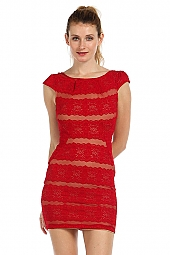 LACE MESH BOYDCON DRESS