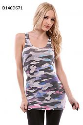 CAMOUFLAGE PRINT TANK TOP