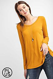 Plus V Neckline basic Top