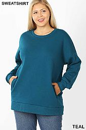 PLUS LONG SLEEVE ROUND NECK SWEATSHIRTS
