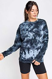LONG SLEEVE TIE DYE OVERSIZED TOP