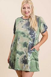Plus Tie Dye Dress