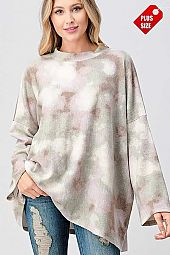 MULTI COLOR LONG SLEEVE TOP PLUS