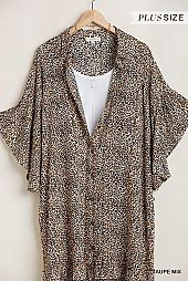 Animal Print Angel Bell Sleeve Dress