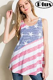 4TH OF JULY AMERICAN FLAG PLUS TANK TOP