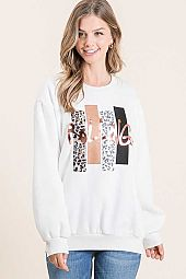 ROLLING MIX GRAPHIC PRINT SWEATSHIRT