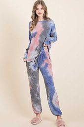 TIE DYE FRENCH TERRY LOUNGE SETS