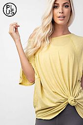Plus Mineral Wash Loose Fit Top