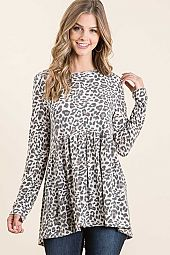 ANIMAL PRINT JERSEY EMPIRE LINE BABY DOLL