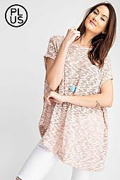 Plus Low Gage short poncho sleeve top