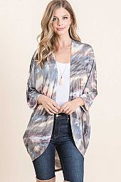 ABSTRACT PRINT BULGARI OPEN CARDIGAN