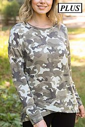 CAMO PRINT BOTTOM WRAP TOP