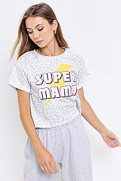 'SUPER MAMA' SCREEN PRINT TOP