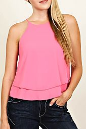 SOLID FLOUNCE CAMI TOP