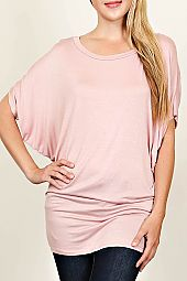 DOLMAN JERSEY KNIT TUNIC TOP