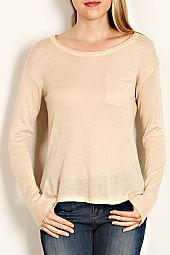 POCKET TRIM BASIC PULLOVER