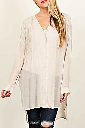 SOLID KNIT SPLIT SIDE TUNIC
