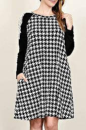 HOUND TOOTH PRINT DRESS