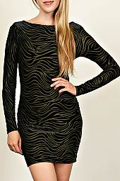 ABSTRACT PRINT SCOP BACK DRESS