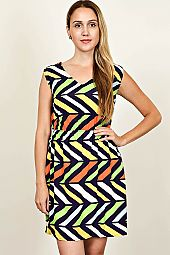 BUTTON-TAB MISSONI PRINT DRESS