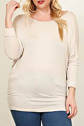 SOLID KNIT DOLMAN TUNIC