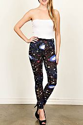 GALAXY PRINT KNIT LEGGINGS