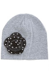 SEQUINED FLORAL KIDS BEANIE