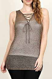 PLUS FISH NET TANK TOP