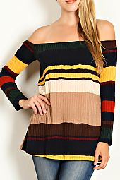 MULTI COLOR STRIPE PRINT TOP