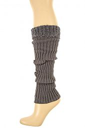 LINED KNIT FUZZY TOP LEG WARMER