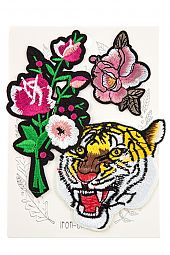 FLOWER AND TIGER PATCH SET