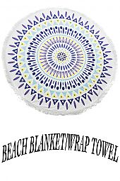 MIX SHAPE & COLOR PATTERN BEACH THROW