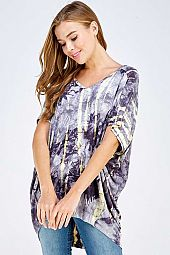 PLUS TIE DYE MULTI COLOR LOOSE FIT TOP