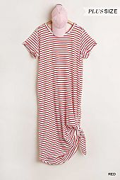 Maxi Striped T-Shirt Dress