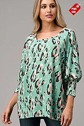 ANIMAL OPEN SLEEVE LOOSE FIT TOP PLUS