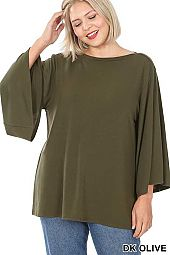 PLUS BELL SLEEVE TOP