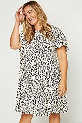 Plus Leopard Swing Dress