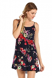 FLORAL PRINT KNIT CAMI DRESS
