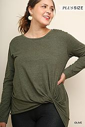 PLUS TWIST FRONT COTTON TOP