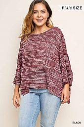 PLUS MARLED BOXY TOP