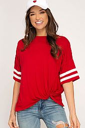 FRONT TWIST GAME DAY CASUAL TOP