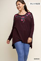 PLUS EMBROIDERY ACCENT TUNIC